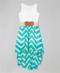Jade zigzag belted hi low dress girls by maya fashion zulilyfinds