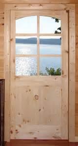 Pine Front Doors Rustic Doors Custom Knotty Pine 6 Lite Door Mediterranean Other By Homestead Doors Inc
