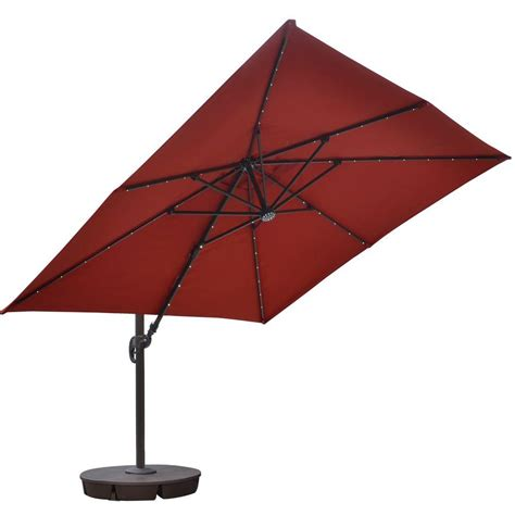 Island Umbrella Santorini Ii Fiesta 10 Ft Square Square Cantilever Patio Umbrella