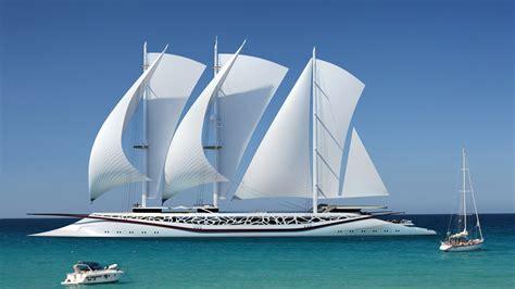 nature sea ship sailing ship yacht horizon modern