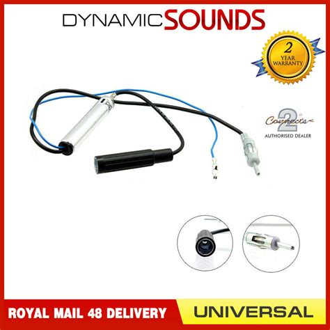 car antenna radio stereo am fm signal lifier booster din to din ebay
