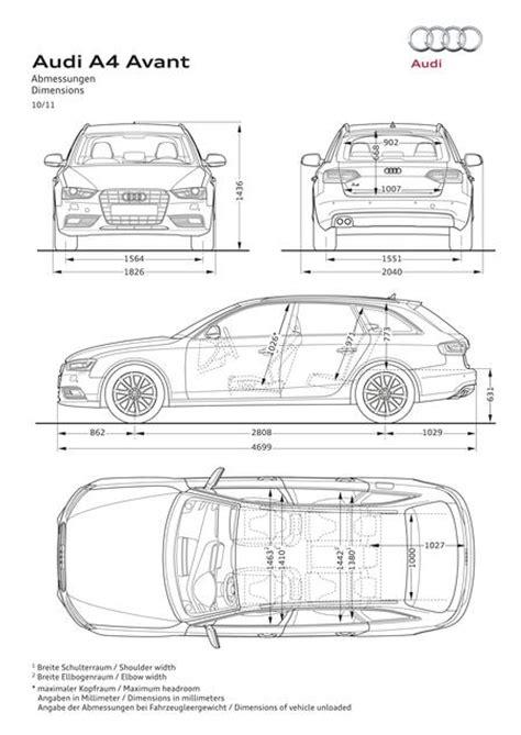 Abmessung Audi A4 Avant by Audi A4 Avant 2 0 Tdi 2012 Autokatalog Ma 223 E