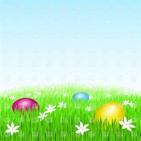 easter eggs  green grass  backgrounds textures