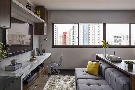 minimalist and functional home interior furniture design parede de cimento queimado casinha arrumada