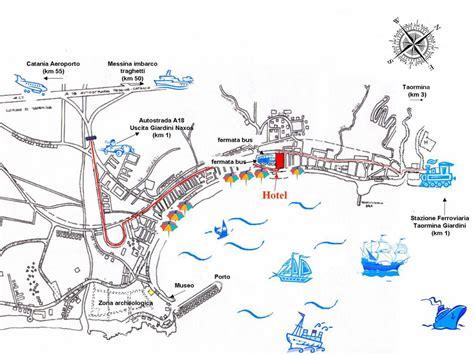 mappa giardini naxos geo map hotel palladio