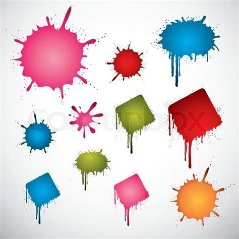 the color spot various colored ink spots stock vector colourbox