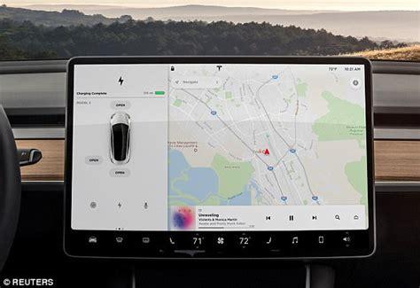 tesla model 3 navigation leaked reveals how tesla model 3 touchscreen works