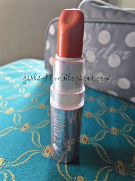 Lipstik Caring s line orange lipstick caring in early morning