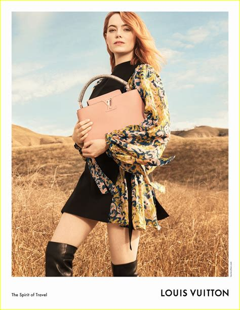 emma stone louis vuitton emma stone makes her louis vuitton caign debut photo