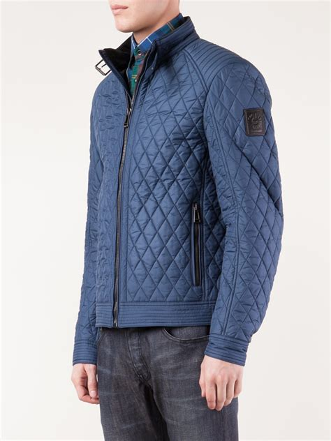 Quilted Clothing by Belstaff Bramley Racer Quilted Jacket In Blue For Lyst