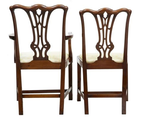 gothic dining room furniture 19th century set of eight chippendale gothic mahogany