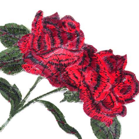 applique iron diy flower embroidered applique iron on sew