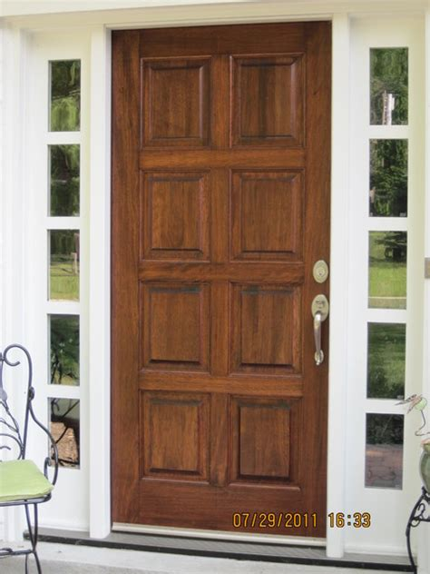 stained mahogany door traditional exterior cincinnati by exteriors unlimited inc