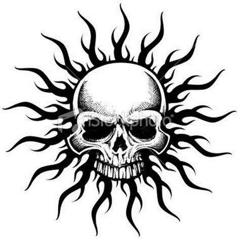 tribal skull tattoo images 40 tribal skull tattoos ideas