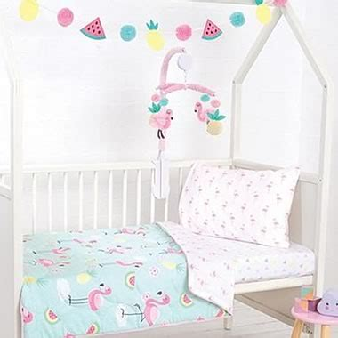 1pcs baby bed sheets pure cotton cute flamingo crib sheets soft quilt cover sets bed linen bed linen online bedding