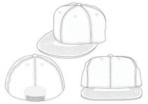 18 template back baseball hat snap images blank black