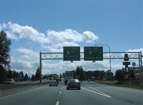 Washington @ AARoads - Interstate 5 South - Skagit County I 5 Exit 71 In Washington State