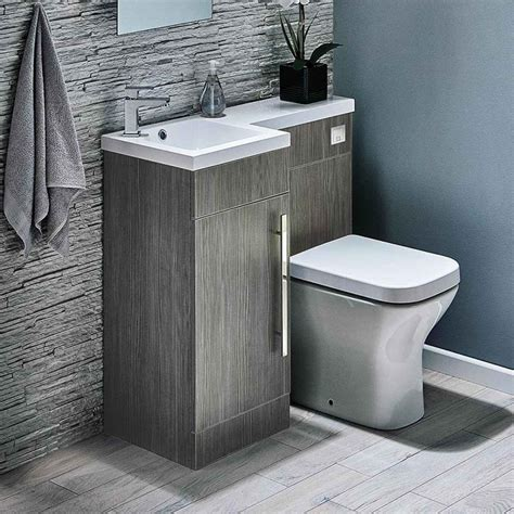 harbour icon 900mm spacesaving combination bathroom toilet