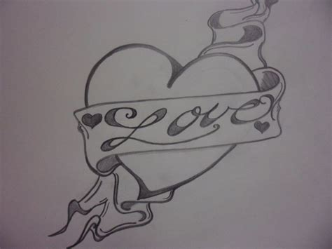 love heart drawings love heart drawing color