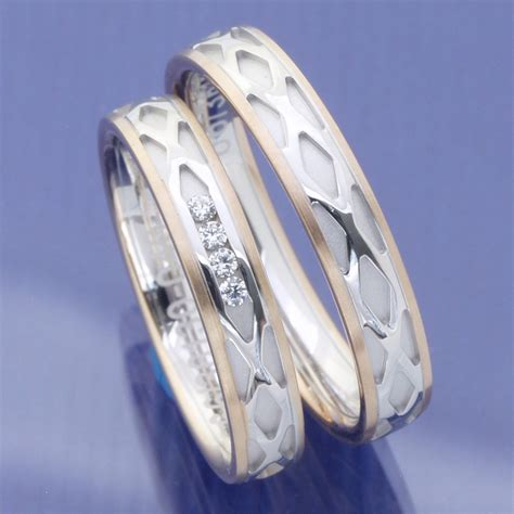 G Nstige Verlobungsringe Wei Gold by Eheringe Shop G 252 Nstige Bicolor Trauringe 585 Weissgold
