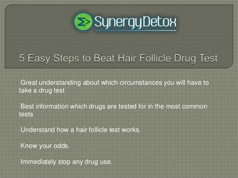5 easy steps to beat hair follicle test