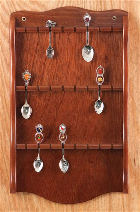 Collectors Spoon Rack by Collector Spoon Display Rack Holder Wood Wall New