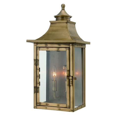 Brass Outdoor Light Fixtures Acclaim Lighting St Charles Collection Wall Mount 2 Light Outdoor Aged Brass Light Fixture