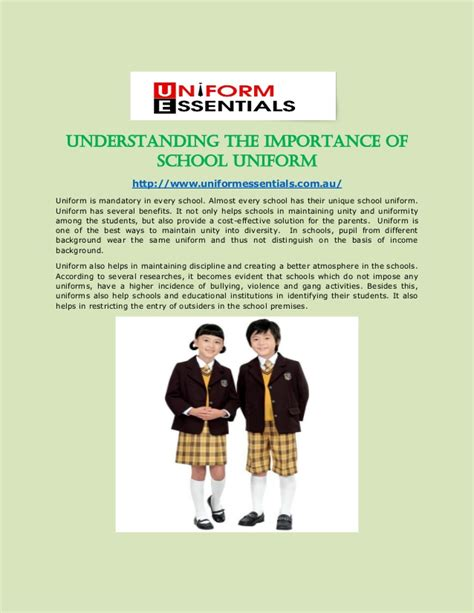 Importance Of School Essay by Importance Of School Essay School Uniforms To Wear Or Not To Wear Essays