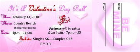 printable valentine tickets best photos of tickets valentine s day card templates