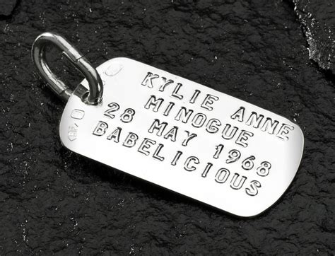 what to put on tag lettering suggestions for silver stainless steel or brass tags