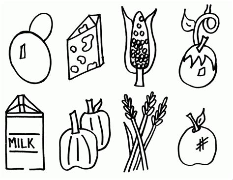food coloring pages for kids coloring home food coloring pages for kids coloring home
