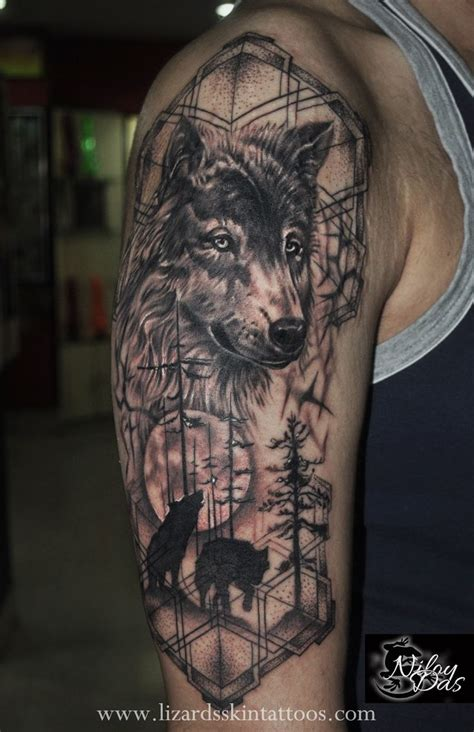 indian themed tattoo wolf tattoos for ideas and inspiration for guys