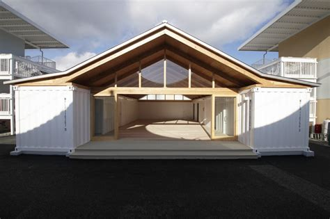 Blue Stone Barns Shigeru Ban S Temporary Onagawa Housing Is Made From Paper