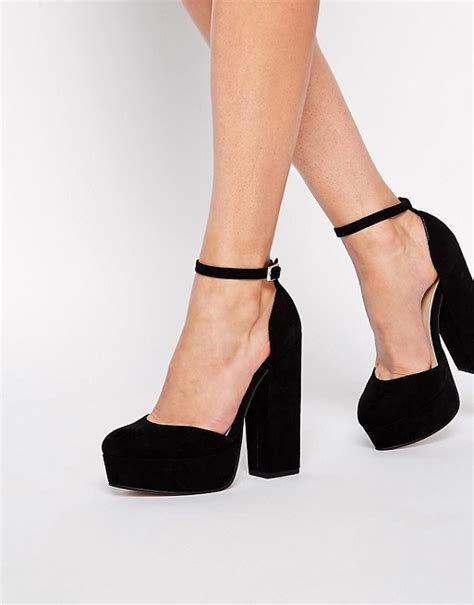 Punched Cut Out Platform Wedges At Asos by Asos Asos Pendulum Platform Shoes