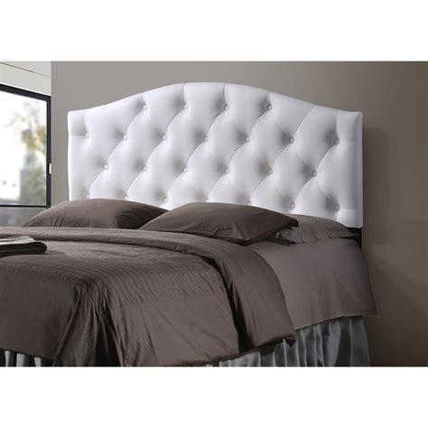 button tufted headboard baxton studio myra modern and contemporary full size white