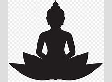 Buddhist meditation Buddhism Lotus position Clip art ... Hot Dog Clipart Black And White