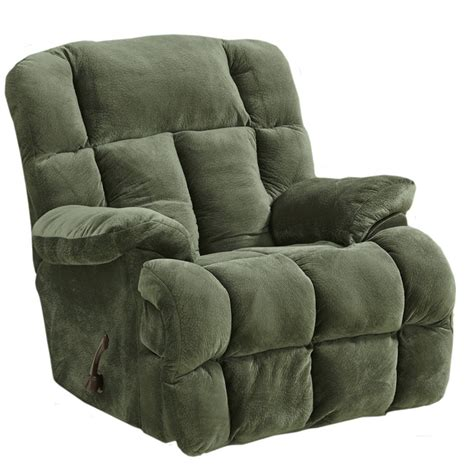 catnapper big man recliner cloud 12 chaise rocker recliner in sage microfiber by