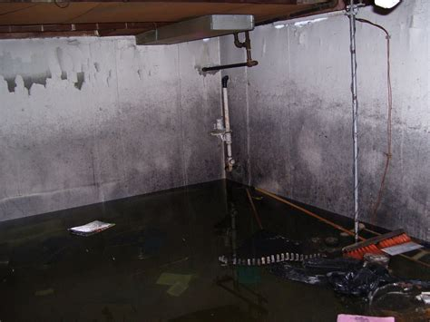 flooded basement cleaning and restoration in east pointe