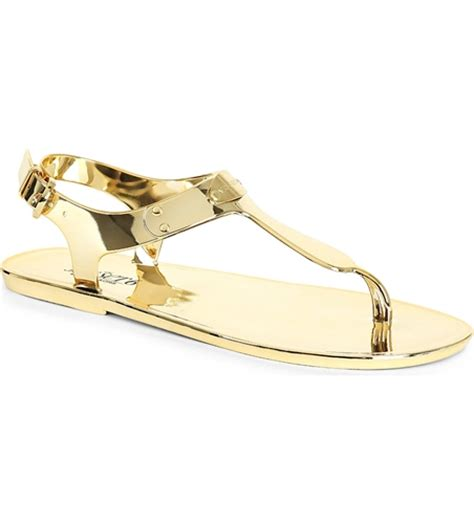 gold jelly sandals michael michael kors metallic jelly sandals gold nuji
