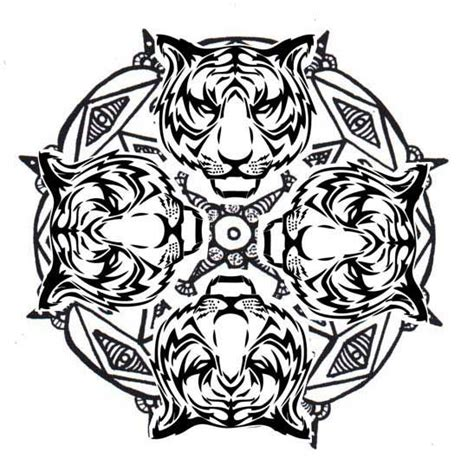 tiger mandala coloring pages 126 best images about images to draw or paint on