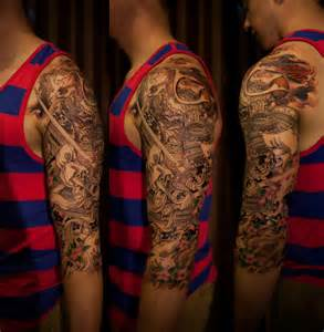 Japanese Half Sleeve Tattoo Designs » Home Design 2017