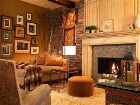 soggiorni rustici pareti soggiorno rustico giallo terra