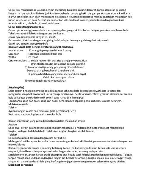 Membuat Makalah Olahraga | siswa teladan makalah olahraga materi kelas xi