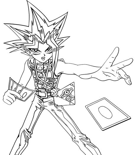 Coloring Page Yu Gi Oh by 15 Yugioh Coloring Pages For Print Color Craft