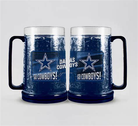 nfl dallas cowboys freezer mug