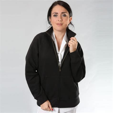 cucina donna giacca da cucina donna o nera con zip