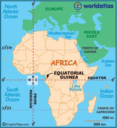 africa map with equator equatorial guinea map geography of equatorial guinea