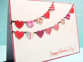 Sequin colorful hearts circle handmade card for valentine s day