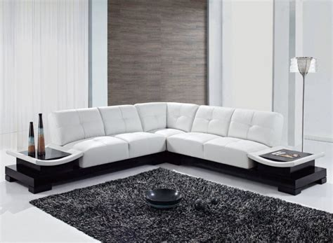 Modern L Shaped Sofa Designs Cozy Living Room Interior Design With White L Shape Leather Sofa Furniture Ideas