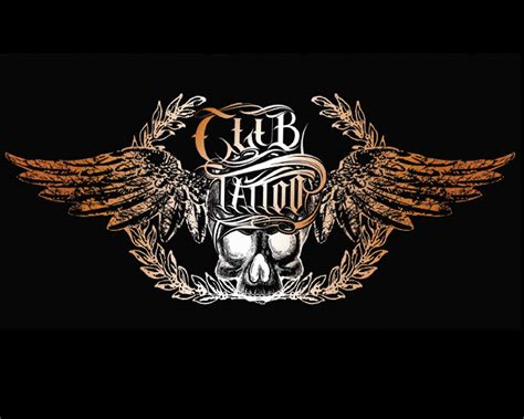 club tattoo skull club logo wallpaper hd 12118 wallpaper
